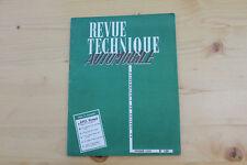 REVUE TECHNIQUE AUTOMOBILE FEVRIER 1959 OPEL OLYMPIA