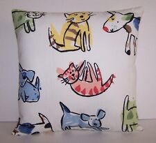 Decorative Pillows Animal Print 13X13 Pastel Colors Handmade Cats Dogs NWOT