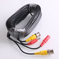 30M Security Camera Cable CCTV Video Power Extension Wire DC BNC RCA Cord DVR NE