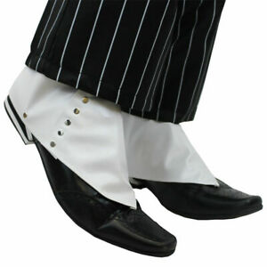20's Spats Shoe Cover Adults Mens Gangster Fancy Dress Mafia Pimp Accessory 1920