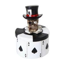 Poker Skull Top Hat Ace Trinket Box Figurine Storing Small items
