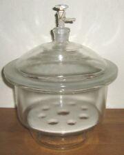 "Glass desiccator vacuum jar lab dessicator dryer 8"" New"