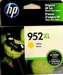 L0S67AN-Genuine HP 952XL Yellow Ink Cartridge High Yield, Dated 12/2020, OEM