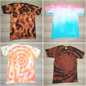 Unisex Size Medium Tie Dye T-Shirt Many Colours and Designs Hippy Summer