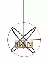 "Z-Lite 463-36 Cavallo 10 Light 36""W Chandelier - Bronze/Brass"