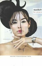 PUBLICITE ADVERTISING  2006  SWATCH montre Japan roses by....