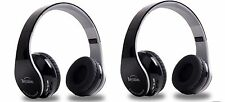 2Pcs New Wireless Stereo Bluetooth Headphone for Mobile Cell Phone Laptop Tablet