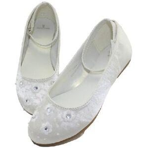 Ivory Sation Girls/Flower Girls Shoes