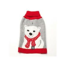 Chili's Polar Bear Dog Sweater Medium Knit Holiday Theme PetRageous 10503RMD NEW