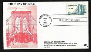 #2041 20c Brooklyn Bridge - Opening Ceremonies Cachet - Jim Agrian FDC