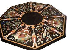 "48"" Marble Coffee center Table top Pietra Dura Handicraft Work home furniture"