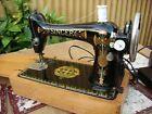 Antique Old Vintage Electric   Singer sewing machine Model 66K