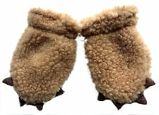 GAP Baby BEIGE COZY Faux Fur Mittens Bear Claws Gloves One Size to 24m £9.95