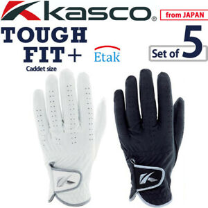 2021 Kasco Golf Japan TOUGH FIT+(Plus) Caddet size Men's Glove SF-2116 Pack of 5