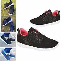 Womens Ladies Memory Foam Lightweight Running Fashion Trainers Shoes UK Size 3-8