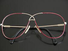 Vtg 80s CAZAL Eyeglasses Sunglasses Frames 2-Tone Wire Rim Glasses Red Gold