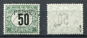 FIUME 1918 SEGNATASSE 50f VERDE E NERO VIAGGIATO SASSONE C3