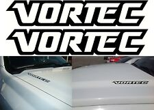 "(2) Gloss Black VORTEC 10"" x 2"" Vinyl Decals Stickers New Free Shipping USA"