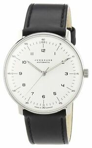 Junghans Mens Max Bill 38mm Automatic Analog Watch - 027/3500.04 NEW