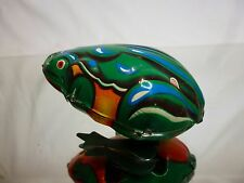 TIN TOY BLECH WINDUP CHINA MS 002 - JUMPING FROG - GREEN L7.0cm - GOOD CONDITION