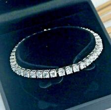 "7.00 Ct Diamond Tennis Bracelet 7"" Inch 1 Row Round Diamonds 14K White Gold"