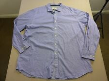 037 MENS NWOT GAZMAN TAILORED WHITE / NAVY FADE STRIPED L/S SHIRT XXL $90 RRP.