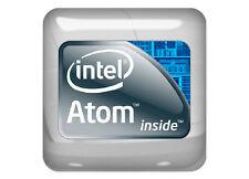 "Intel Atom Inside 1""x1"" Chrome Domed Case Badge / Sticker Logo"
