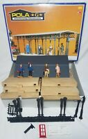Pola 908 G Scale Covered Platform VG in Box with People (Read Description)    g2