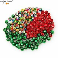 available-USE CHART-10 pacs of 20 beads 200 SLOTTED TUNGSTEN beads.6 colors//4sz