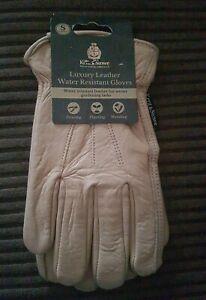 Kent & stowe Ladies (S) Luxury Leather Water Resistant Gardening Gloves