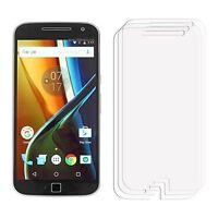 2 x Clear LCD Screen Protector Film Saver For Mobile Phone Motorola Moto G4 Plus