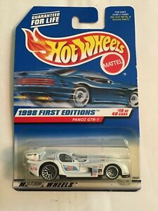 HOT WHEELS 1998 FIRST EDITIONS #19 PANOZ GTR-1 WHITE FACTORY SEALED