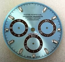 "@@@ROLEX ICE BLUE WITH BROWN ""DIAL"" FOR ROLEX DAYTONA CUSTOM MADE@@@"