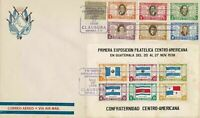 guatemala 1938 central america multi stamp & sheet airmail cover ref r11764
