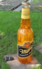"Vtg giant Miller Genuine Draft light up 30"" beer bottle bar, man cave,game room"