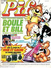 -°- PIF GADGET n°877 -°- 1986 -°- BOULE ET BILL ¤ SANS TELE-PIF