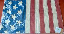 "Pottery Barn AMERICAN FLAG Lumbar Pillow Cover ~ 16 x 26""~ American ~ July 4th"