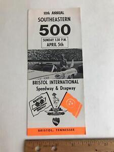 Vtg 1970 Southeastern 500 Bristol TN Intl Speedway Dragway Bobby Allison Handout