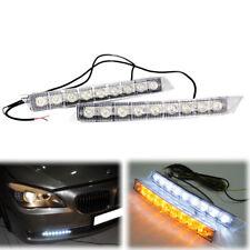 2X 9 LED Car Daytime Running Light Fog Lamp Car DRL Driving Day Lights White