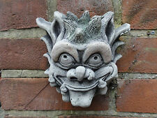 Spike Gargoyle Wall Hanging - Hand Cast Stone Garden Ornament