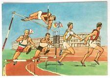 Cartolina Illustrata XVII Olimpiade Roma 1960 - Atletica Leggera