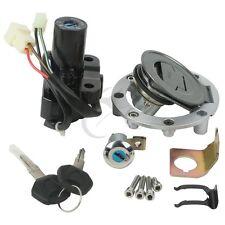 Ignition Switch Seat Fuel Cap Lock Keys For YAMAHA YZF R1 R6 FZ6S FZ6N FJR1300