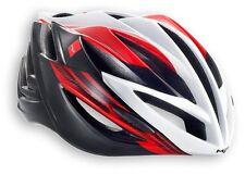 Casco bici da Corsa Met Forte Rosso-bianco-nero L