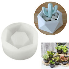 Hexagon Silicone Flower Pot Mold DIY Garden Succulent Planter Vase Mould