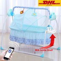 Electric Baby Crib Cradle Infant Rocker Auto-Swing Baby Sleep Bed Free Duty NEW