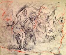 Julian Ritter_Clown With Nude & Friends-2 _Charcoal on Vellum_ Un-Signed - 489