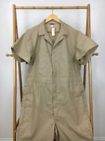 RARE VTG 80s Sears Jumpsuit Mechanic Coveralls Tan Beige Size 48 USA NWT