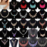 Hot Crystal Bid Pandent Choker Chain Chunky Statement Necklace Earring Set Gift