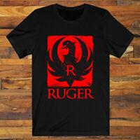 RUGER Pistols Riffles Firearms Logo Symbol Men's Black T-Shirt S-3XL