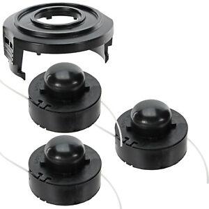 3 Strimmer Line Spools + Spool Cover Kit for CHALLENGE N1F-GT-220/250-C Trimmer